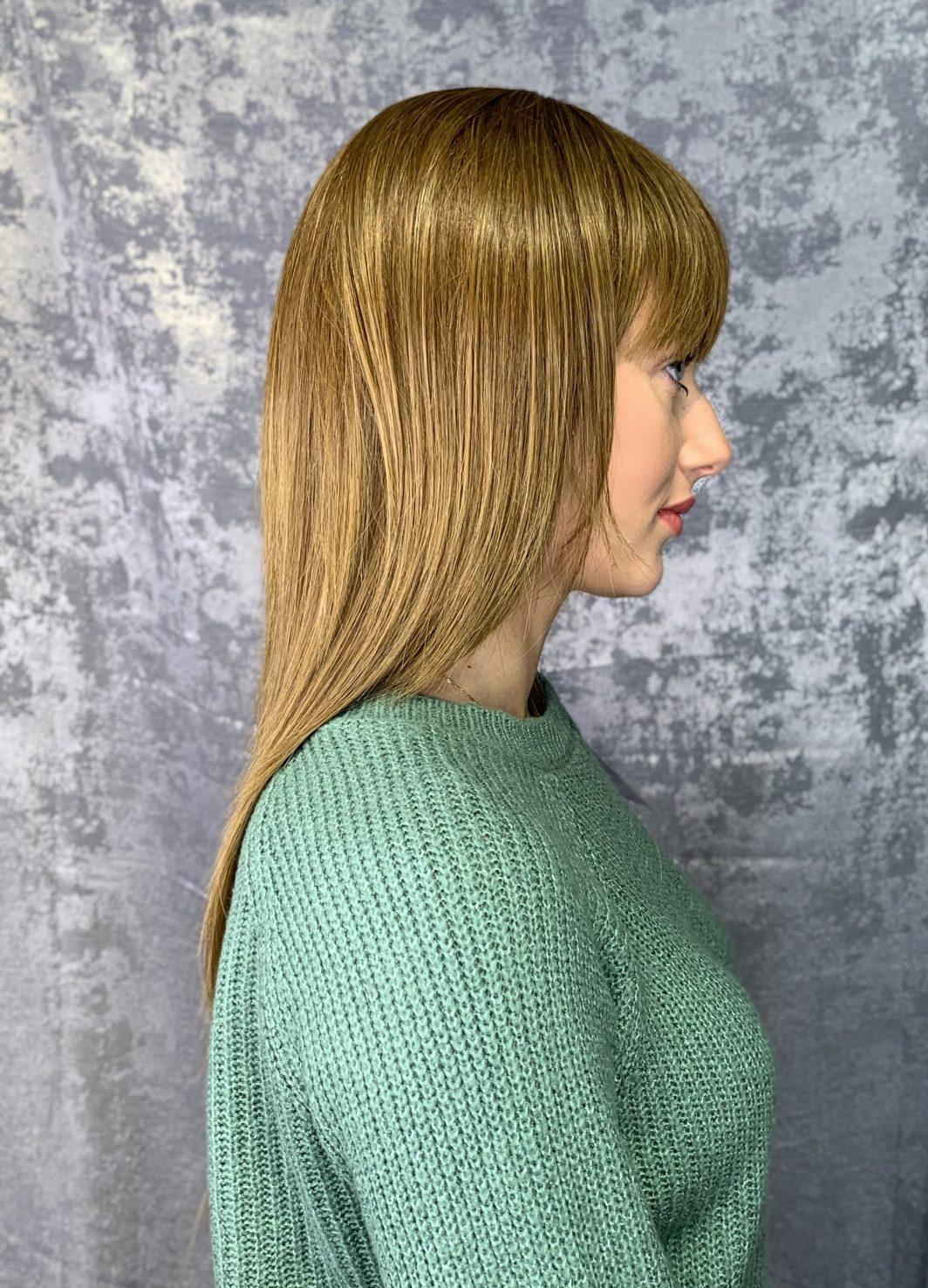 Парик лесенка на длинные волосы