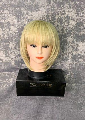 Парик удлиненной каре с челкой блонд