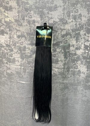 Пряди из натуральных волос, цвет черный