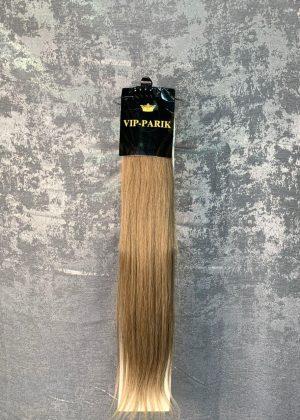 Пряди из натуральных волос русый