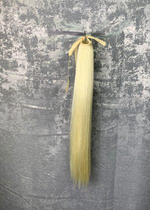 Искусственный хвост на ленте блонд